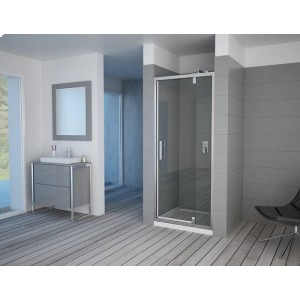 LUXUS - Telescopic Pivot Shower Door (Framed)